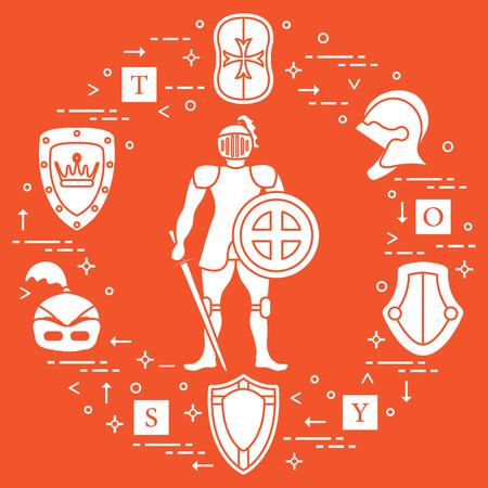 Set of Knight elements design