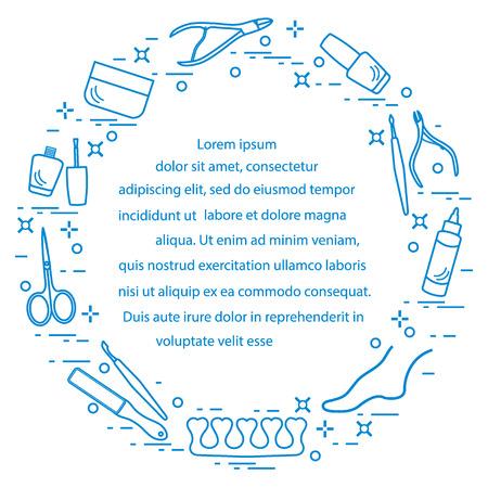 Silhouet van manicure en pedicure tools en producten voor schoonheid en verzorging. Vector illustratie Vector Illustratie