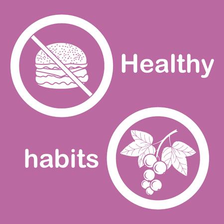 Useful and harmful food icon