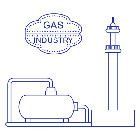 Gas Processing Plant Design Royalty Free Cliparts Vectors And