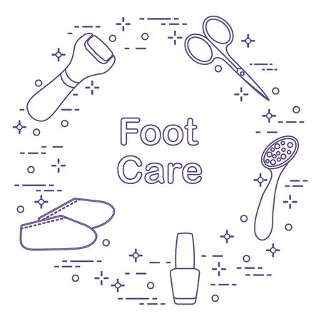 Tools for pedicure icons Иллюстрация