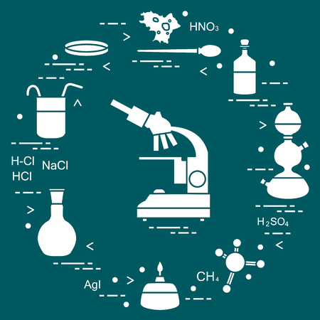Chemistry scientific, education elements. Design for banner, poster or print.