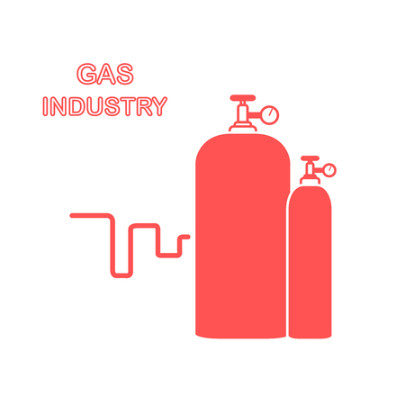 Gas cylinders design for poster or print.