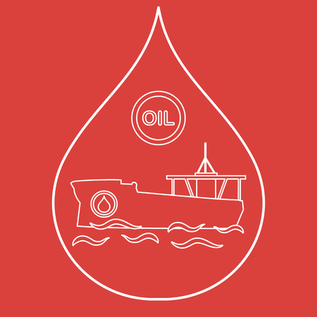 Drop inside which a tanker carrying oil. Production and transportation of oil.