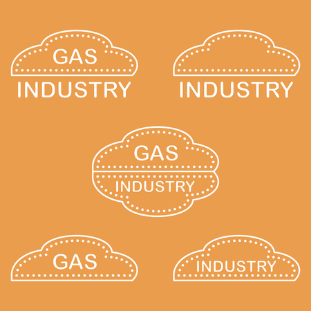 Label, stickers, logos of the gas industry. Design for announcement, advertisement, banner or print. Illusztráció