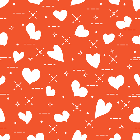 Cute seamless pattern with hearts.