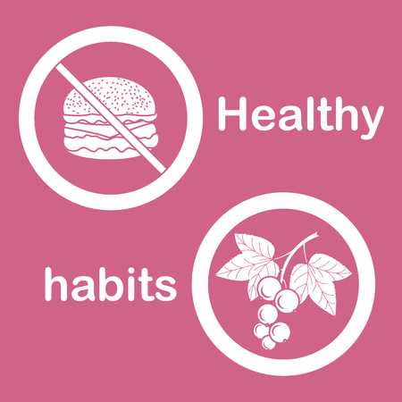 Useful and harmful food proper nutrition with excess weight and obesity. Cheeseburger and black currant.