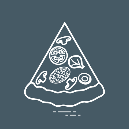 Delicious slice of pizza. Design for banner, poster or print.