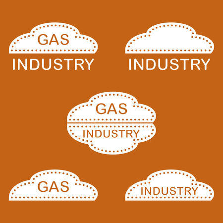 Label, stickers, logos of the gas industry.