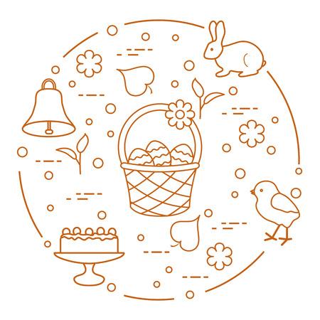 Easter symbols vector design. Ilustração