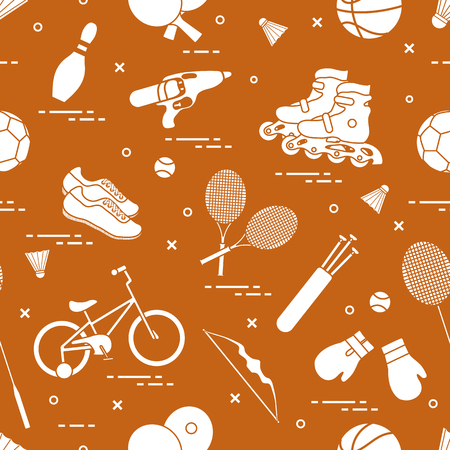 Sports accessories on background.