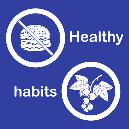 Useful and harmful food. Proper nutrition with excess weight and obesity. Cheeseburger and black currant.