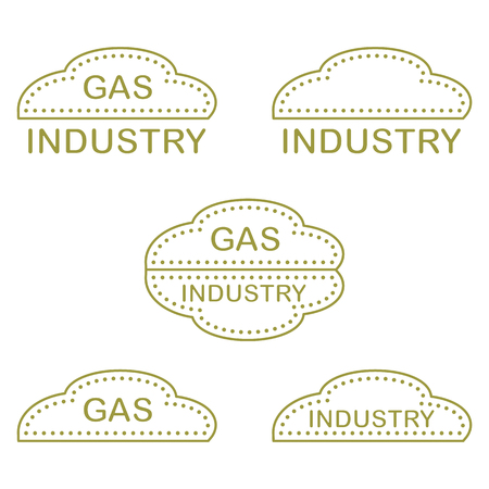 Label, stickers, logos of the gas industry. Design for announcement, advertisement, banner or print. Vectores