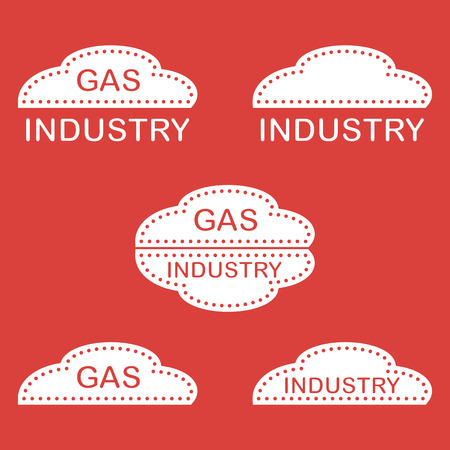 Label, stickers, icon of the gas industry. Design for announcement, advertisement, banner or print. Illustration