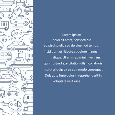 Children's toys: trucks, cars, bus, dump, ball, boat, helicopter. Design for poster or print. Foto de archivo - 100402375