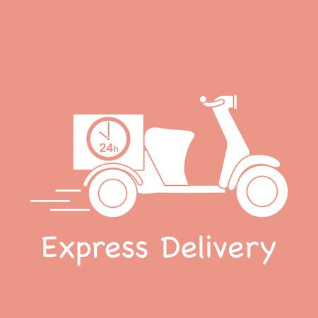 Entrega moto. Envío rápido y conveniente. Entrega gratis.