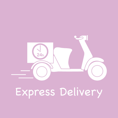 Delivery motorbike. Fast and convenient shipping. Free delivery.