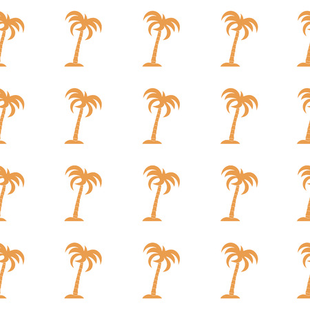Seamless pattern with palm trees. Design for postcard, invitation, banner. Vettoriali