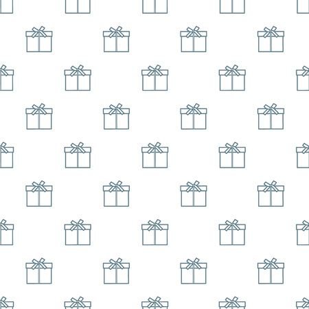 Seamless pattern with gifts boxes, bandaged with ribbons and bow. 스톡 콘텐츠 - 114770900