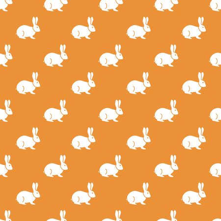 Seamless rabbit pattern. Easter holiday. Funny bunny Illustration