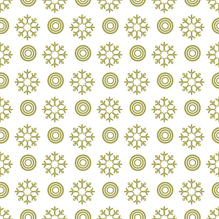 Winter seamless pattern with  snowflakes and circles. Design for banner, poster or print.