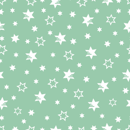 Seamless pattern with stars. Christmas and New Year 2019 background. Design for packaging paper, fabric and other print. Иллюстрация