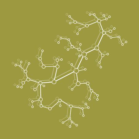 Structure of molecule and communication. Scientific concept. Medical, chemistry, science. Illusztráció