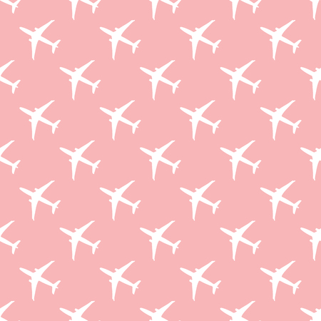Seamless pattern with planes. Design for poster or print.