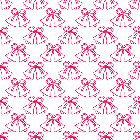 Vector seamless pattern with bells. Christmas and New Year 2019 background. Design for packaging paper, fabric and other print.