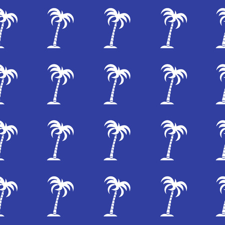 Seamless pattern with palm trees. Design for postcard, invitation, banner. Illustration