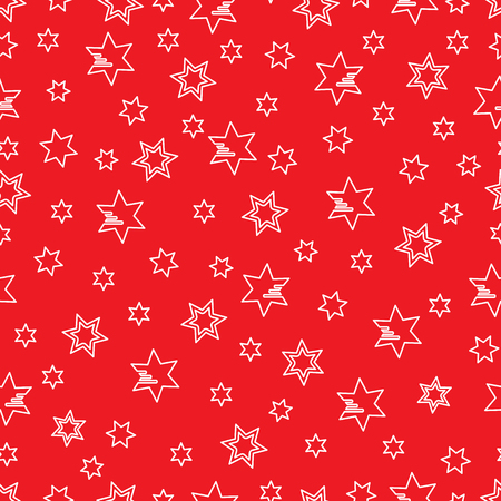 Seamless pattern with stars. Christmas and New Year 2019 background. Design for packaging paper, fabric and other print. 写真素材 - 127708106