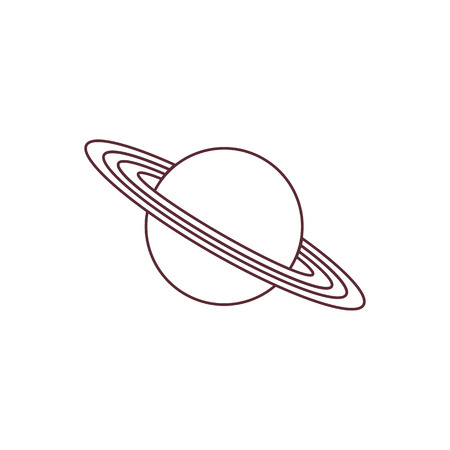 Vector illustration of the planet Saturn with ring system. Design for astronomy apps, websites, print. Illustration