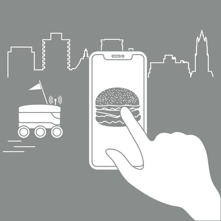 Order foods and drinks in the application on phone and delivery with a robot. Fast and convenient shipping. Free delivery.