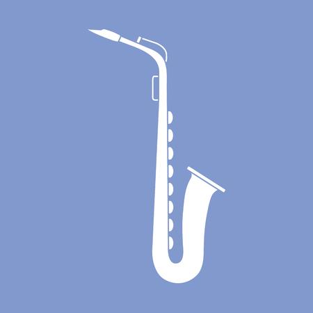 Vektorillustration mit Saxophon. Blasinstrument der klassischen Musik.