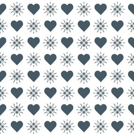Cute seamless pattern with hearts. Happy Valentine's Day. Romantic background. Design for party card, paper, wrapping, fabric.