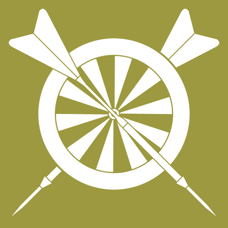 Vector illustration of target and arrows for darts. Sports theme. Design for banner, poster or print.