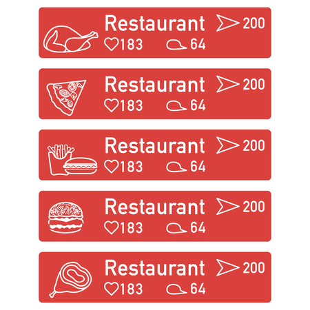 Application of augmented reality: AR for navigation in city or shopping center. Choosing a  restaurant by location, comments and likes.