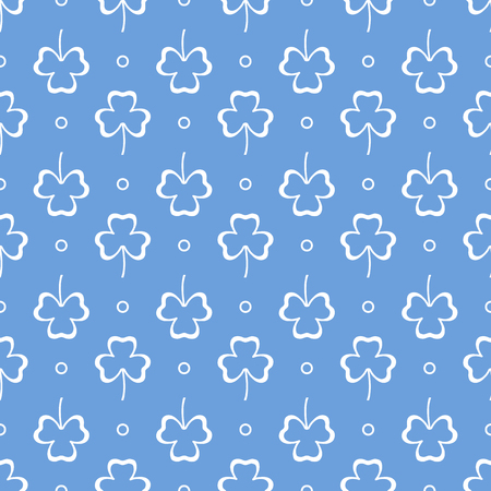 Seamless pattern with clover leaves. Shamrock background. St. Patricks Day. Design for banner and print.