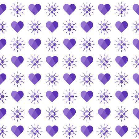 Cute seamless pattern with hearts. Happy Valentines Day. Romantic background. Design for party card, paper, wrapping, fabric. Ilustrace