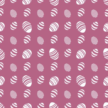 Vector seamless pattern with Easter eggs. Happy Easter. Festive background. Design for banner, poster or print.