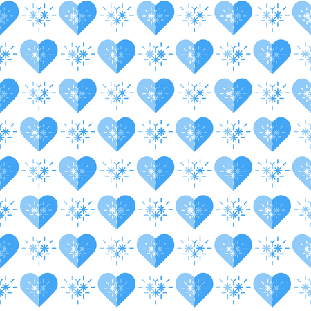 Cute seamless pattern with hearts. Happy Valentines Day. Romantic background. Design for party card, paper, wrapping, fabric. Çizim