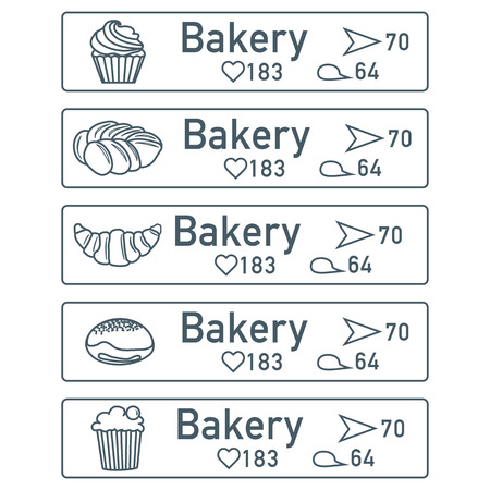Application of augmented reality: AR for navigation in city or shopping center. Choosing a bakery by location, comments and likes. Banco de Imagens - 124982481