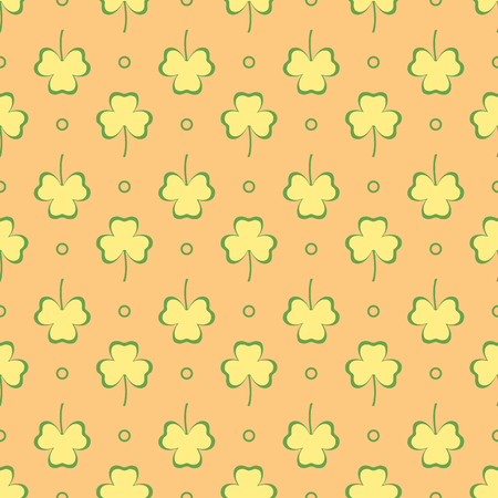 Seamless pattern with clover leaves. Shamrock background. St. Patrick's Day. Design for banner and print. Banco de Imagens - 124879651