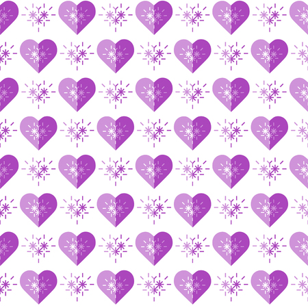 Cute seamless pattern with hearts. Happy Valentines Day. Romantic background. Design for party card, paper, wrapping, fabric. 일러스트