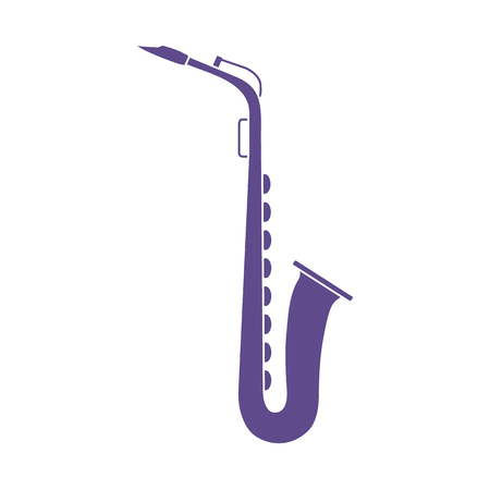 Vector illustration with saxophone. Classical music wind instrument. Stockfoto - 124691976