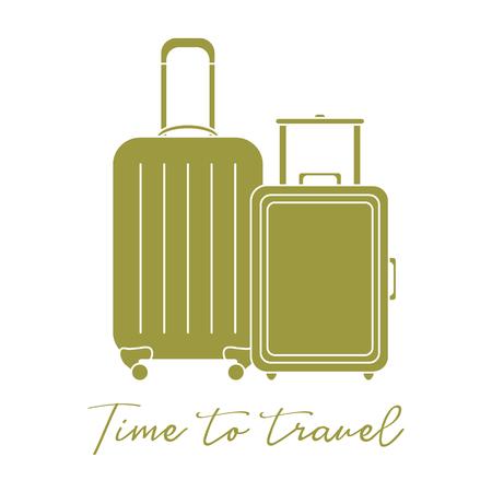 Vector illustration with two suitcases. Summer time, vacation. Leisure. Vektoros illusztráció
