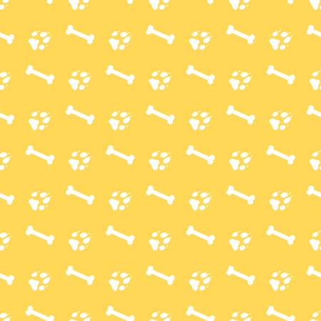 Seamless pattern with bones, dog tracks. Animal background. Design for card, announcement, advertisement, banner or print.