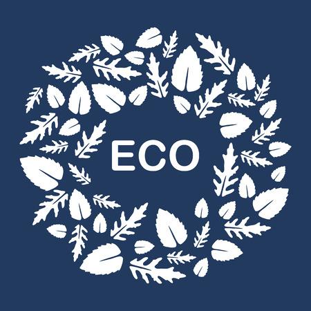 Vector illustration with arugula and basil leaves. Eco design. Vegan, natural, bio. Organic background. Design for banner, poster, textile, print.