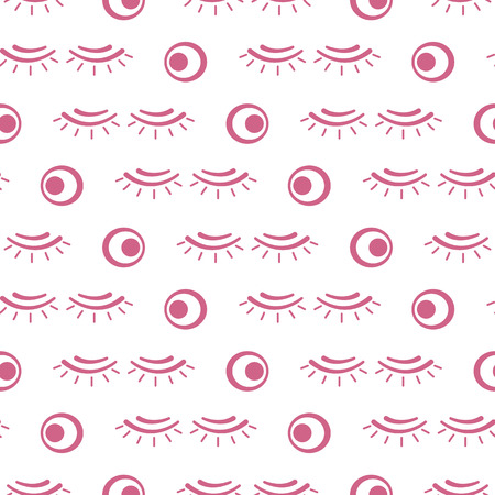 Vector seamless pattern with eyelashes. Decorative cosmetics, makeup background. Glamour fashion vogue style. Design for banner, poster or print.