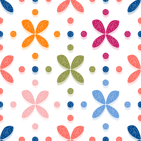 Seamless pattern with flowers. Abstract colorful background. Design for banner, poster, textile, print. Ilustrace